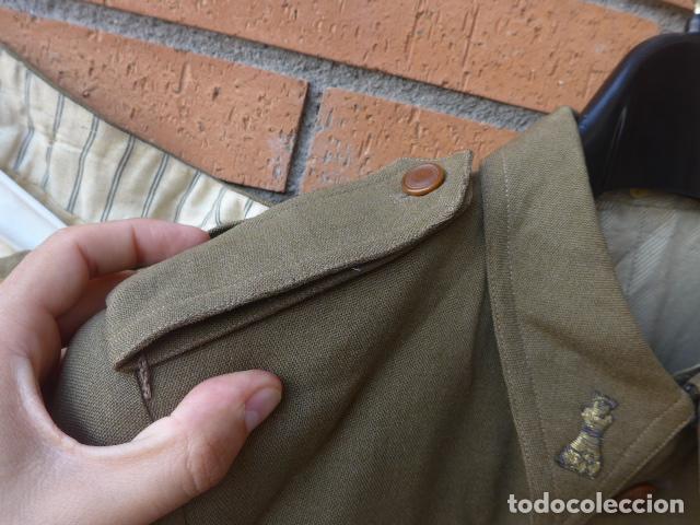Militaria: * Antiguo uniforme de teniente provisional, con emblemas bordados ingenieros, guerra civil. ZX - Foto 9 - 211829950