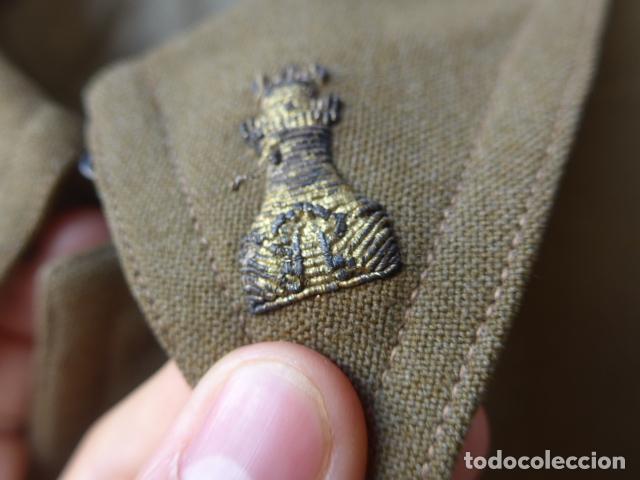 Militaria: * Antiguo uniforme de teniente provisional, con emblemas bordados ingenieros, guerra civil. ZX - Foto 10 - 211829950