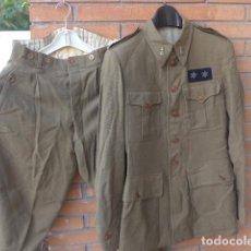 Militaria: * ANTIGUO UNIFORME DE TENIENTE PROVISIONAL, CON EMBLEMAS BORDADOS INGENIEROS, GUERRA CIVIL. ZX. Lote 211829950