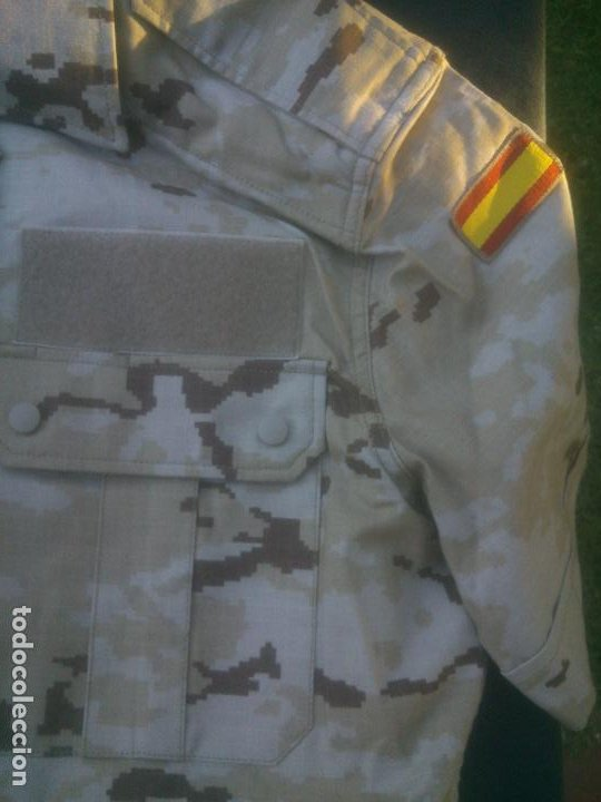 Militaria: CAMISA CAMPAÑA MANGA CORTA ARIDA PIXELADA . EJERCITO ESPAÑOL TALLA 2 NUEVA. - Foto 2 - 213672843