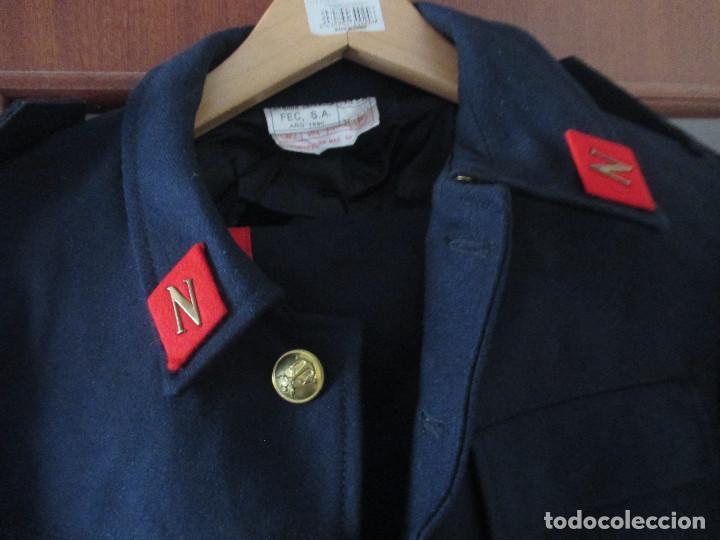 Militaria: UNIFORME DE MARINA DE LA ARMADA ESPAÑOLA AÑO 1990 ( TALLA 50) , 3 PIEZAS, PANTALON CHAQUETA Y ABRIGO - Foto 4 - 213944512