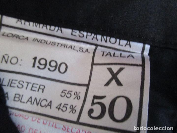 Militaria: UNIFORME DE MARINA DE LA ARMADA ESPAÑOLA AÑO 1990 ( TALLA 50) , 3 PIEZAS, PANTALON CHAQUETA Y ABRIGO - Foto 24 - 213944512