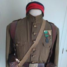 Militaria: LOTE UNIFORME GUERRA DEL RIFF. 1921. DESASTRE DE ANNUAL. RGMTO. INFANTERÍA SAN FERNANDO 11.. Lote 217030916