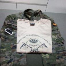 Militaria: LOTE MILITAR.CABALLERIA.LUSITANIA 8.CAMISOLAPACHALECO ANTIFRACMENTACION BOSCOSA PIXELADA.PARCHE CARR. Lote 217560285