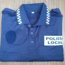 Militaria: POLO POLICÍA LOCAL UNIFORME DISFRAZ TALLA XL. Lote 221404706