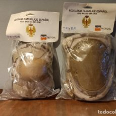 Militaria: EJERCITO ESPAÑOL RODILLERAS Y CODERAS ARIDAS PIXELADAS EN SU BOLSA ORIGINAL. Lote 221480785
