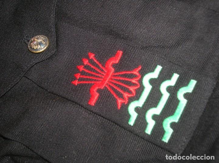 Militaria: ANTIGUA GUERRERA DE ALTO JERARCA FALANGISTA. MOVIMIENTO NACIONAL. FALANGE ESPAÑOLA DE LA JONS. - Foto 9 - 225728158