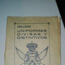 Militaria: UNIFORMES DIVISAS Y DISTINTIVOS DEL PERSONAL DE LA MARINA DE GUERRA ESPAÑOLA. AÑO 1921.. Lote 225907448