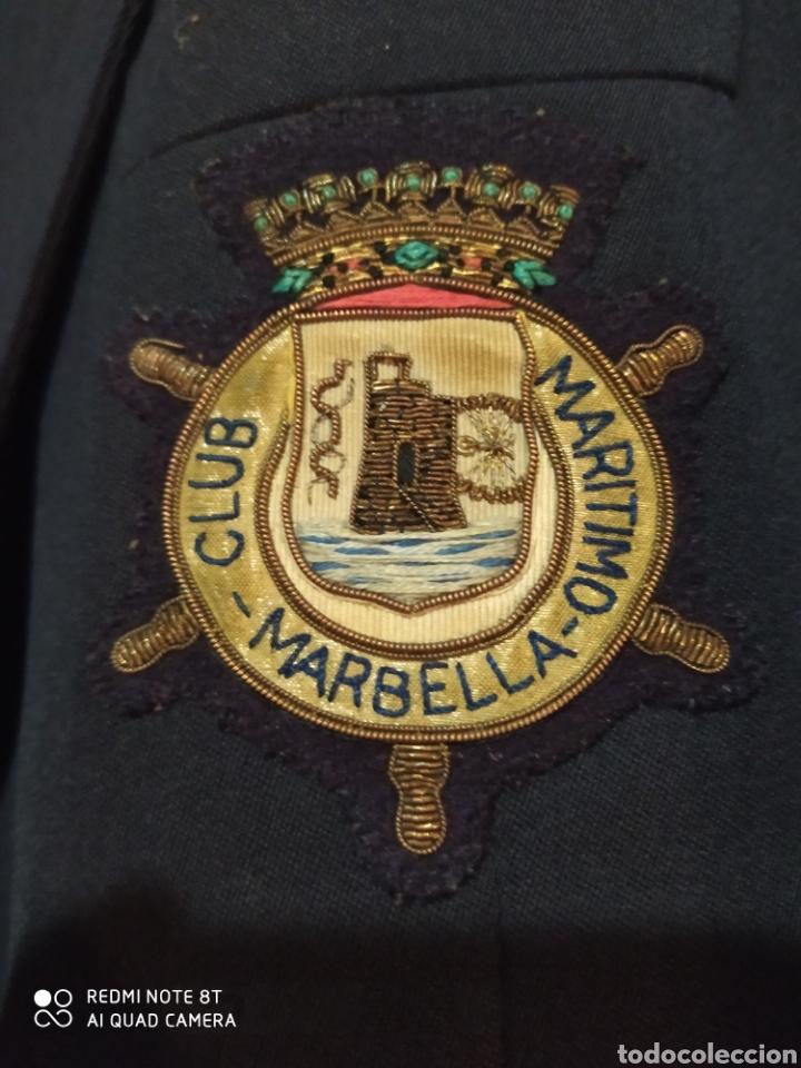 Militaria: CHAQUETA CAPITAN FRAGATA SOCIO CLUB MARITIMO MARBELLA - Foto 2 - 231695885