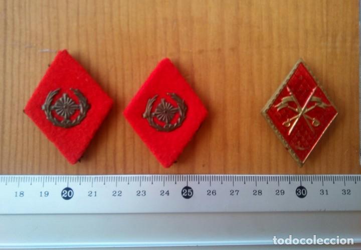 Militaria: Lote militar Sáhara. IMEC, milicias universitarias, AOE. Gorrilllo, emblemas, galones, escarapela. - Foto 5 - 232805945