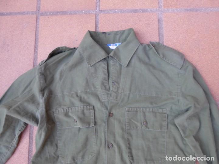 Militaria: Camisa verde oliva OTAN del ejército español. CTI Talla 41 - Foto 2 - 236990810