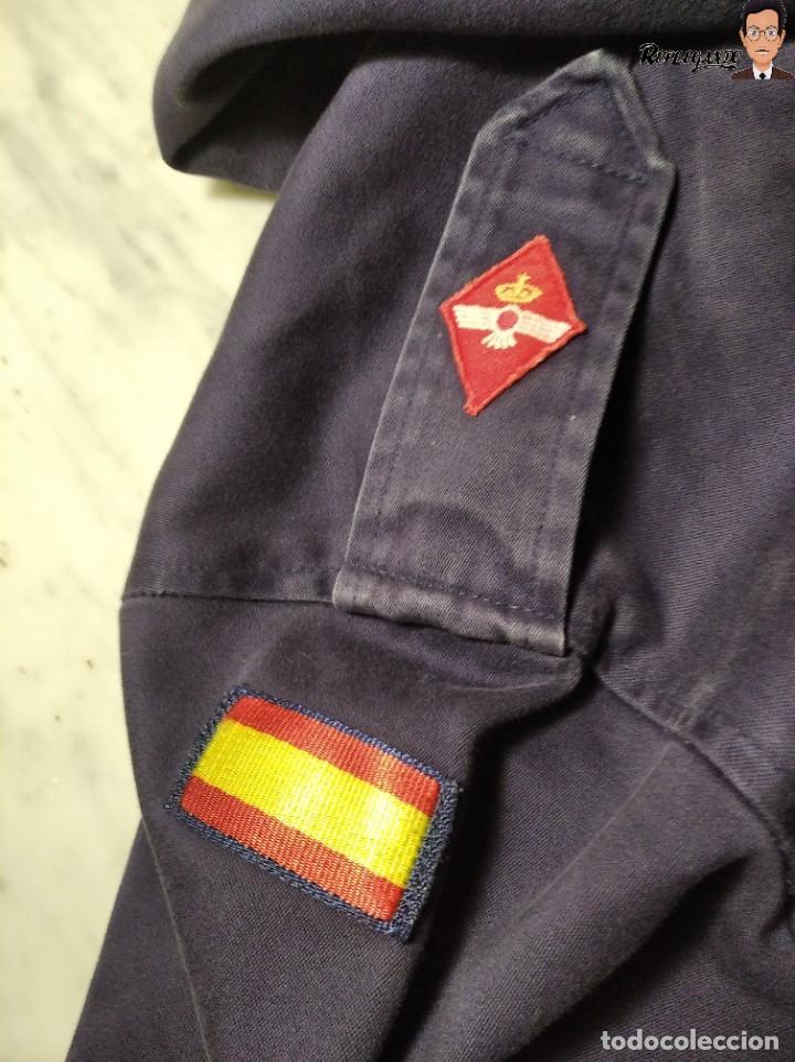 Militaria: CHAQUETA DE FAENA CON CAPUCHA DEL EJERCITO DEL AIRE ESPAÑA (COLOR AZUL) TALLA M - AVIACIÓN ESPAÑOLA - Foto 12 - 237496680