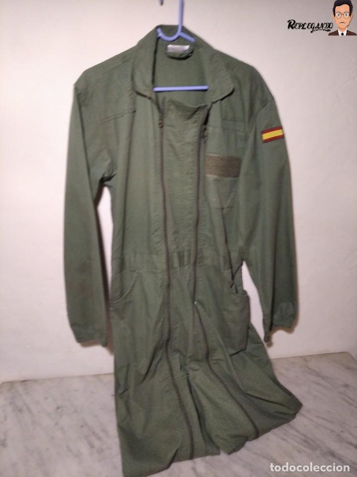 MONO DE TRABAJO DE DOBLE CREMALLERA EJÉRCITO ESPAÑOL AÑO 2008 (COLOR VERDE CLARO) TALLA M (Militar - Uniformes Españoles )