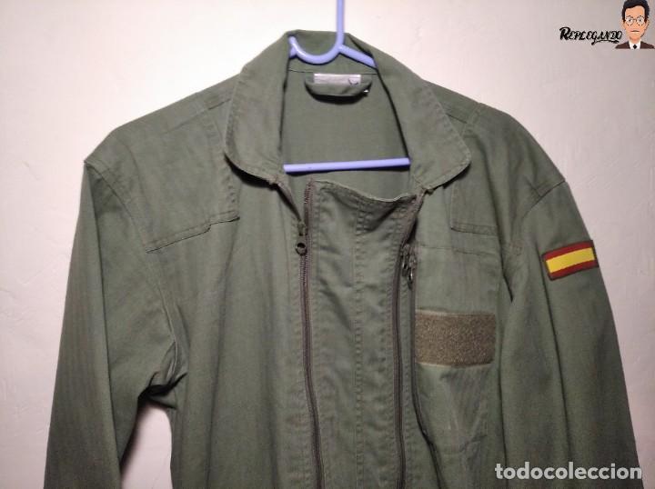 Militaria: MONO DE TRABAJO DE DOBLE CREMALLERA EJÉRCITO ESPAÑOL AÑO 2008 (COLOR VERDE CLARO) TALLA M - Foto 2 - 237497355