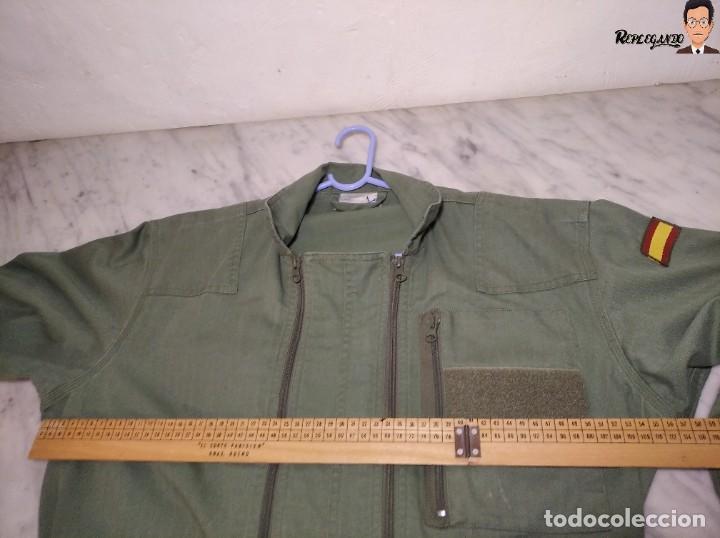 Militaria: MONO DE TRABAJO DE DOBLE CREMALLERA EJÉRCITO ESPAÑOL AÑO 2008 (COLOR VERDE CLARO) TALLA M - Foto 14 - 237497355
