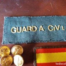 Militaria: GALLETA GUARDIA CIVIL BANDERA DE ESPAÑA. Lote 241237275
