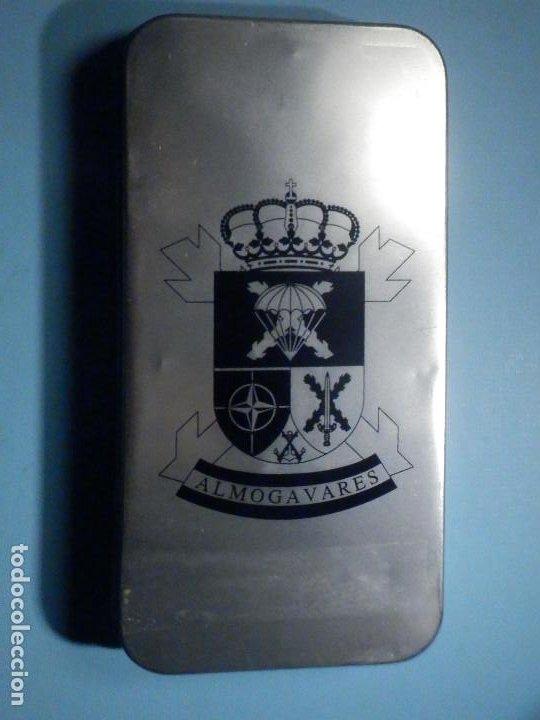 Militaria: Caja metálica - Brigada Paracaidista Almogavares - 13,5 cm x 7 cm y 18 mm de altura - Foto 2 - 242169580