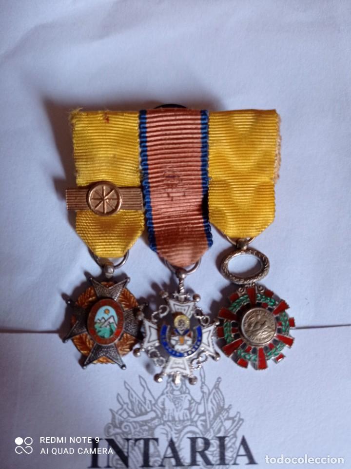 Militaria: Medallas en miniatura al mérito - Foto 2 - 243384575