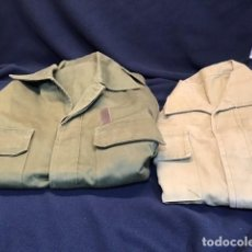 Militaria: DOS CAMISOLAS DEL EJERCITO DE TIERRA (ANTIGUAS). Lote 245947105
