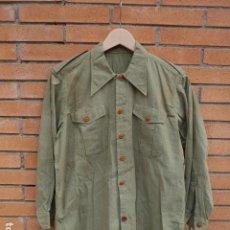 Militaria: * ANTIGUA CAMISA DE GUERRA CIVIL VERDE AZULADO, TIPO LEGION O REPUBLICANA. ORIGINAL. ZX. Lote 246057840