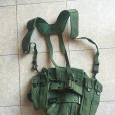 Militaria: INFANTERIA DE MARINA, CORREAJE LONA PARA SUBFUSIL CON RIÑONERA Y PULPO. Lote 277556353