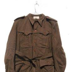 Militaria: SAHARIANA CAZADORES MONTAÑA,PAÑO, LANA. JACA . REGLAMENTO 1943 BUENA TALLA. Lote 264845419