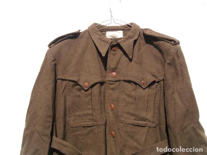 Militaria: SAHARIANA CAZADORES MONTAÑA,PAÑO, LANA. JACA . REGLAMENTO 1943 BUENA TALLA - Foto 2 - 264845419