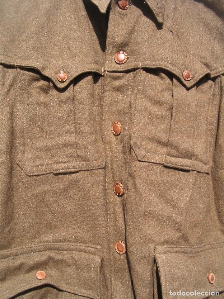 Militaria: SAHARIANA CAZADORES MONTAÑA,PAÑO, LANA. JACA . REGLAMENTO 1943 BUENA TALLA - Foto 5 - 264845419