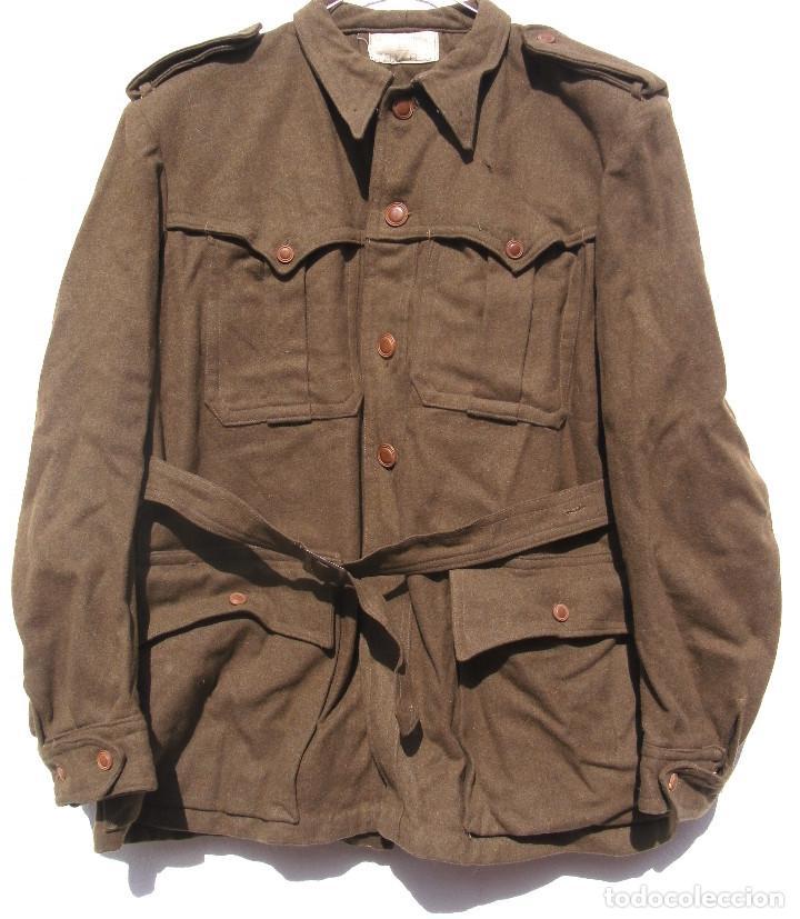 Militaria: SAHARIANA CAZADORES MONTAÑA,PAÑO, LANA. JACA . REGLAMENTO 1943 BUENA TALLA - Foto 8 - 264845419