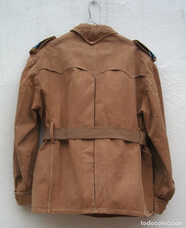 Militaria: SAHARIANA CABO TIRADORES DE IFNI. REGLAMENTO 1943, LONETA DE ALGODÓN, GARBANZO. - Foto 6 - 264956834