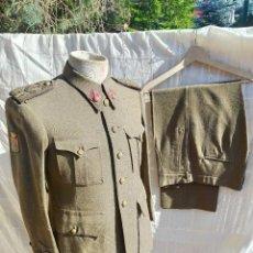 Militaria: UNIFORME COMPLETO,. REGLAMENTO 43 , AÑOS 40 DIVISIÓN AZUL TENIENTE CORONEL ARTILLERÍA EJECUTO URGEL. Lote 265836784