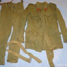Militaria: (M) ANTIGUO TRAJE MILITAR ESPAÑOL CHAQUETA Y PANTALONES ,Y CINTURON , VER FOTOGR.. Lote 274337563