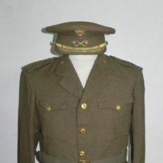 Militaria: UNIFORME DE GENERAL DE DIVISION DEL EJERCITO DE TIERRA, CHAQUETA Y GORRA (FABR. POR ZAPATER, MADRID). Lote 275186143