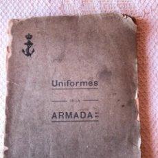 Militaria: REGLAMENTO UNIFORMIDAD ARMADA 1910. Lote 279577538