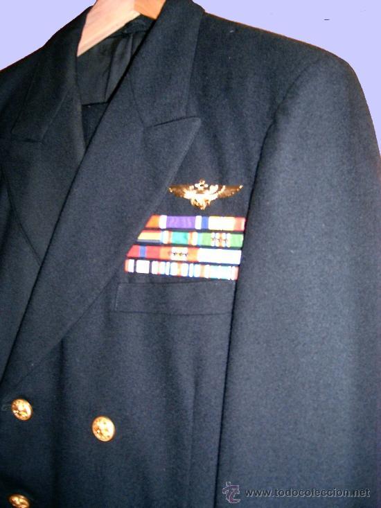 Militaria: AUTENTICO Y OBSOLETO UNIFORME DE CAPITAN TOP-GUN, U.S.NAVY (MARINA AMERICANA). - Foto 2 - 26610898