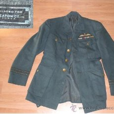 Militaria: UNIFORME DE PILOTO CANADIENSE DE LA ROYAL AIR FORCE, RAF. TENIENTE, GUERRERA PANTALON GORRA. Lote 32789416