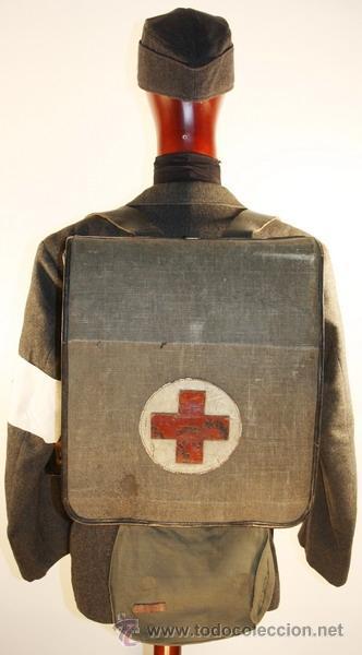 Militaria: Guerrera y equipo, sanitario Cruz Roja alemana, original alemán 2 GM - Foto 2 - 34612729
