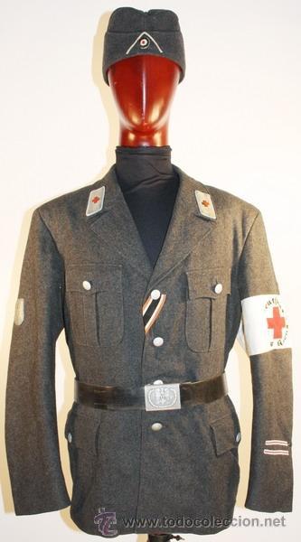 Militaria: Guerrera y equipo, sanitario Cruz Roja alemana, original alemán 2 GM - Foto 3 - 34612729