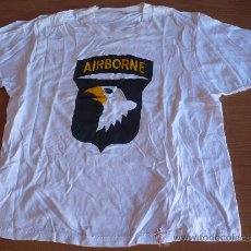 Militaria: CAMISETA 101 DIVISION AEROTRANSPORTADA - SCREAMING EAGLES.US ARMY TALLA L.. Lote 34681213