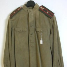 Militaria: CHAQUETA, GUERRERA, GYMNASTIORKA SOVIETICA TROPA, HOMBRERAS OFICIAL, MODELO 1943, 2ª GUERRA MUNDIAL. Lote 37688567