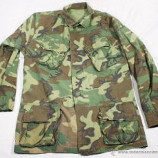 Militaria: CHAQUETA PARA CLIMAS TROPICALES, 2º MODELO, CAMUFLAJE WOODLAND, USA VIETNAM Y POSTERIOR. Lote 43984879