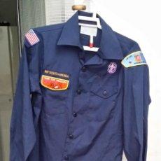 Militaria: CAMISA BOY SCOUTS DE AMERICA MINNESITA VIKING COUNCIL, CACHORROS DE POSGRADO, PARCHE BORDADO. Lote 44114994