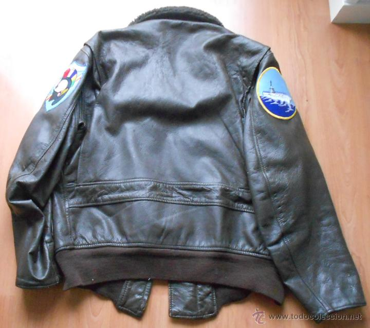 Militaria: Chaqueta de piloto original, con parches de Brubaker, The Bridges at Toko-Ri william holden - Foto 2 - 45716023