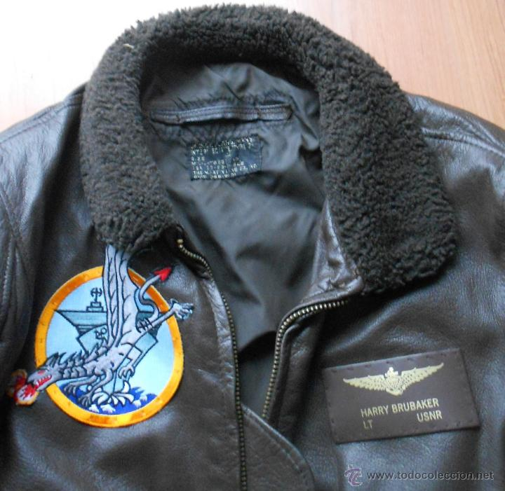 Militaria: Chaqueta de piloto original, con parches de Brubaker, The Bridges at Toko-Ri william holden - Foto 3 - 45716023