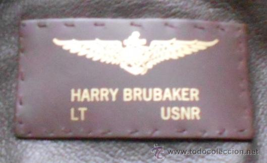 Militaria: Chaqueta de piloto original, con parches de Brubaker, The Bridges at Toko-Ri william holden - Foto 4 - 45716023