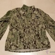 Militaria: USN US NAVY AOR NAVY SEALS GUERRERA CAMISA DIGITAL COMANDANTE MAYOR ORIGINAL. Lote 46234304