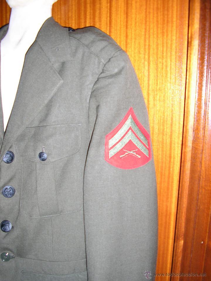 Militaria: US MARINES. ANTIGUAS CHAQUETA Y PANTALON - Foto 3 - 48005502