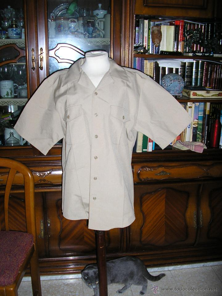 US NAVY. CAMISA DE MANGA CORTA DE UNIFORME. TALLA LARGE ATHLETIC (Militar - Uniformes Internacionales)