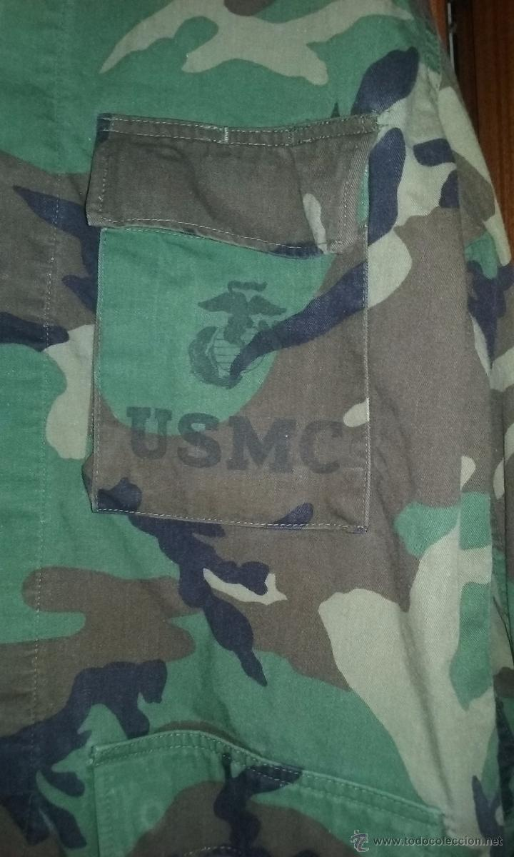 Militaria: USMC. CAMISOLA WOODLAND DE LOS US MARINES. Talla grande. - Foto 2 - 129977039