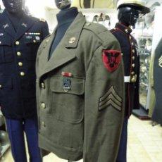 Militaria: GUERRERA USA IIGM MODELO IKE, INCLUYE CONDECORACIONES DE DIARIO Y DISTINTIVOS. Lote 53176672